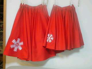 真っ赤なサーキュラースカート☆