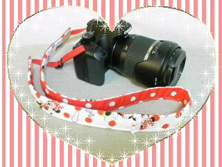 ミニーちゃんのカメラストラップ